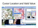 cursor location and valid value