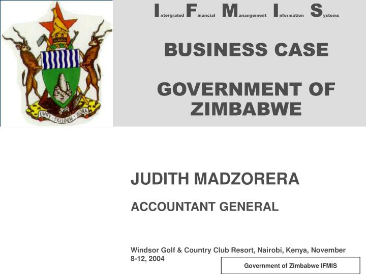 i ntergrated f inancial m anangement i nformation s ystems business case government of zimbabwe n.