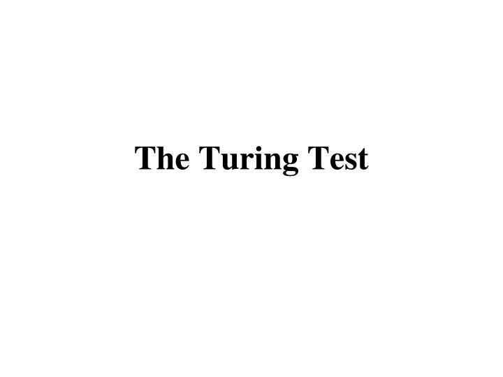 the turing test n.