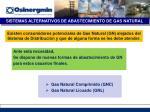 sistemas alternativos de abastecimiento de gas natural