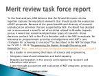 merit review task force report
