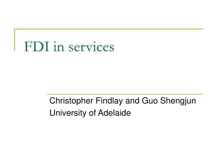 fdi in services n.