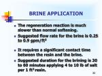 brine application