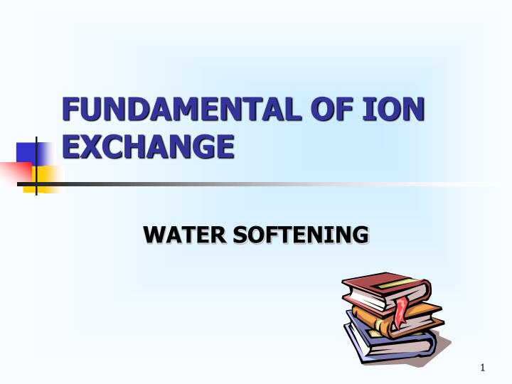fundamental of ion exchange n.