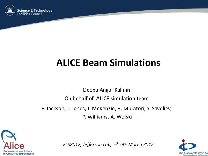 alice beam simulations n.