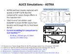 alice simulations astra1