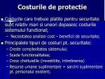 costurile de protectie