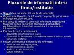 fluxurile de informatii intr o firma institutie
