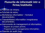 fluxurile de informatii intr o firma institutie1