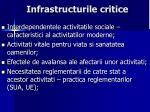 infrastructurile critice