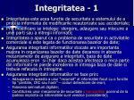 integritatea 1