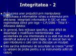 integritatea 2