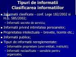 tipuri de informatii clasificarea informatiilor