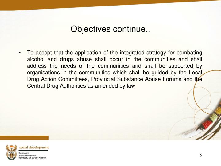 Objectives continue..