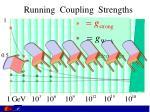 running coupling strengths