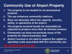 community use of airport property
