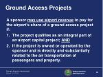 ground access projects