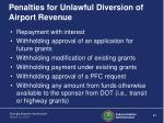 penalties for unlawful diversion of airport revenue