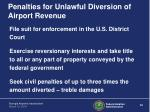 penalties for unlawful diversion of airport revenue1