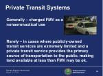 private transit systems