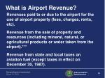 what is airport revenue