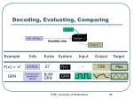 decoding evaluating comparing3