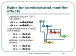 rules for combinatorial modifier effects