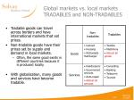 global markets vs local markets tradables and non tradables