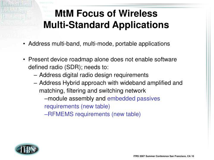 MtM Focus of Wireless