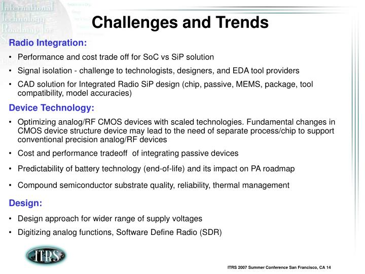 Challenges and Trends