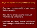 why geometric tolerancing and dimensioning