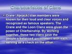 characteristics of clans1