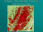 s band 200 mw wifi potential interference map