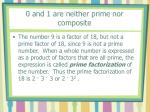 0 and 1 are neither prime nor composite