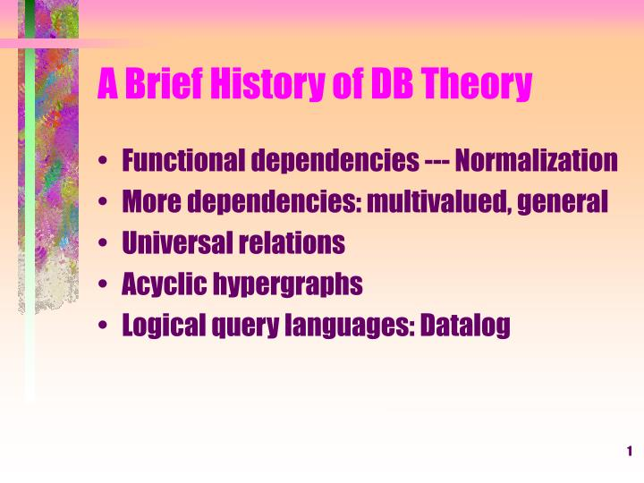 a brief history of db theory n.