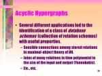 acyclic hypergraphs