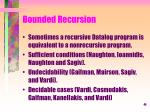 bounded recursion