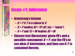 issue 1 inference