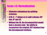 issue 3 normalization