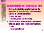 undecidability of embedded gd s