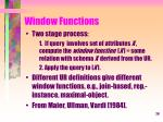window functions