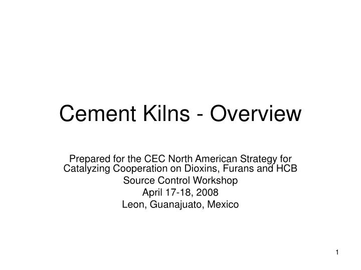 cement kilns overview n.
