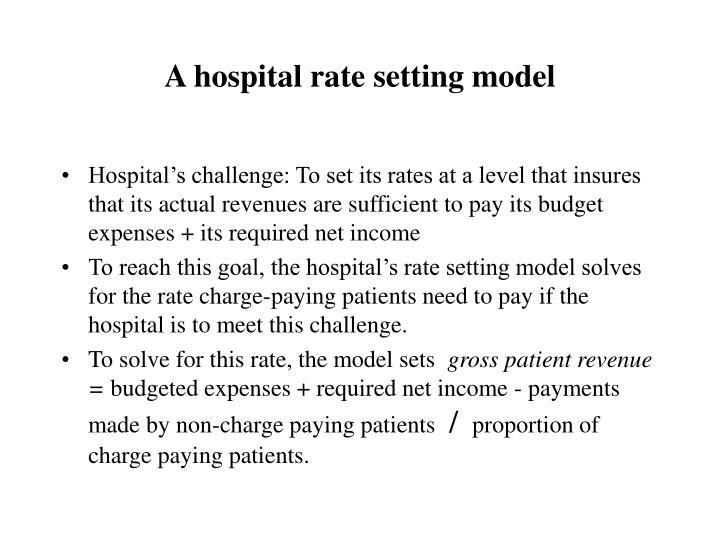 A hospital rate setting model