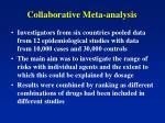 collaborative meta analysis