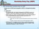 hardship duty pay hdp