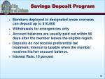 savings deposit program