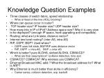 knowledge question examples