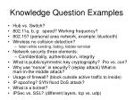 knowledge question examples1
