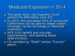 medicaid expansion in 2014