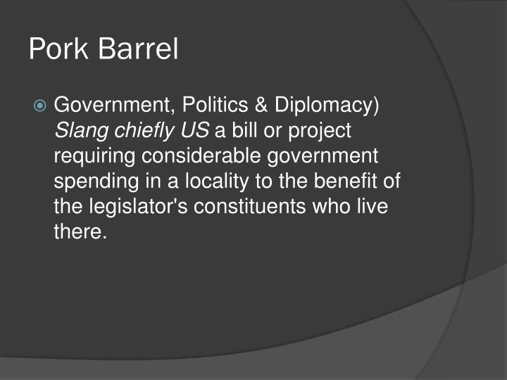 Pork Barrel